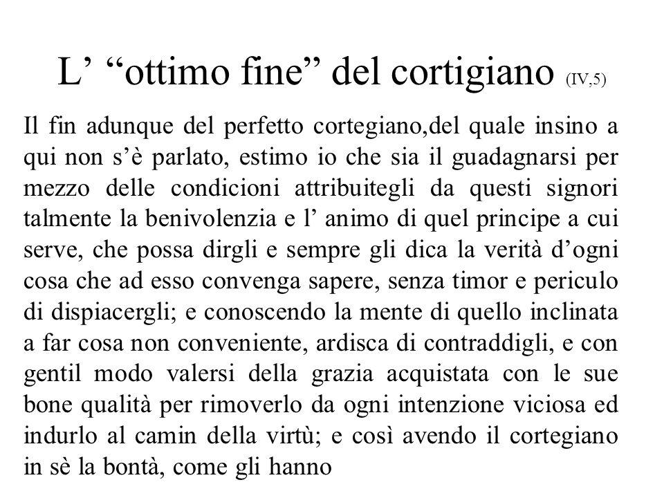 L' ottimo fine del cortigiano (IV,5)