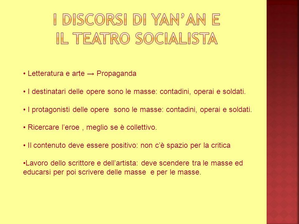 I discorsi di yan'an e Il teatro socialista
