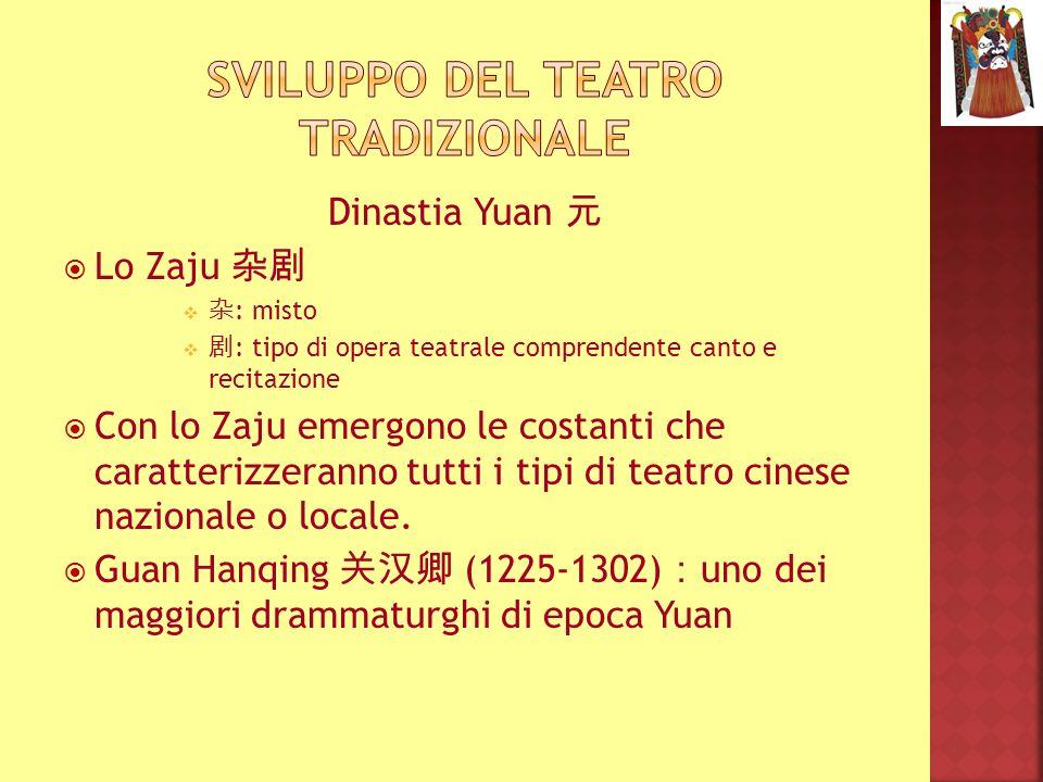 Sviluppo del teatro tradizionale