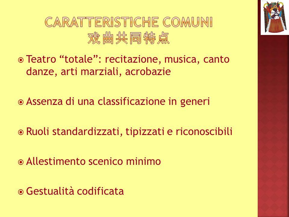 Caratteristiche COMUNI 戏曲共同特点