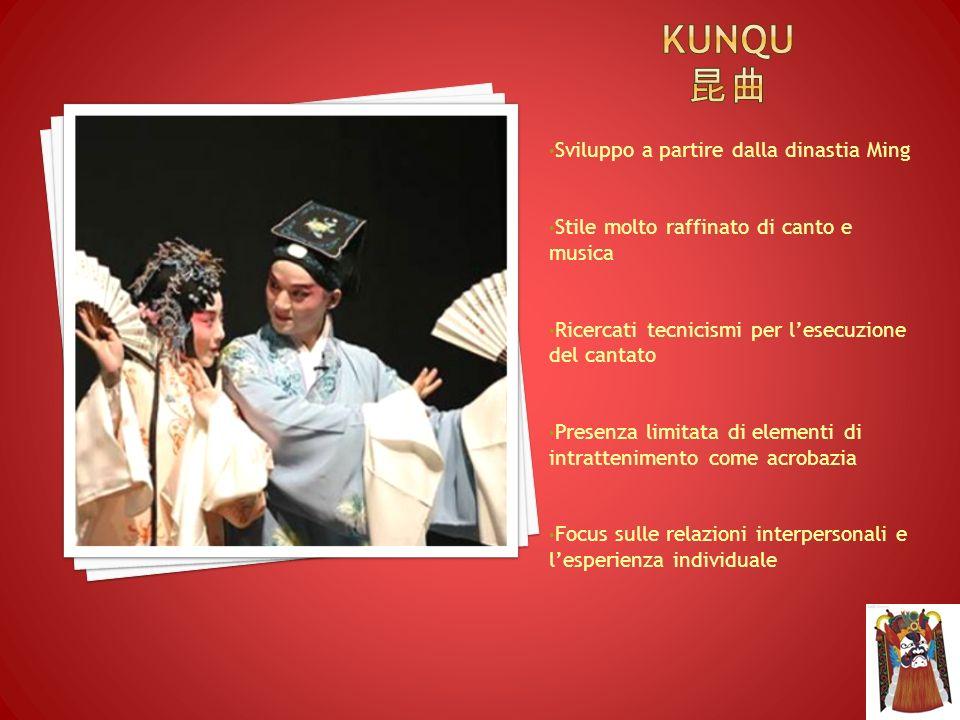 Kunqu 昆曲 Sviluppo a partire dalla dinastia Ming