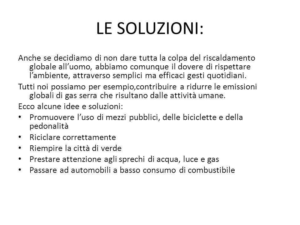 LE SOLUZIONI: