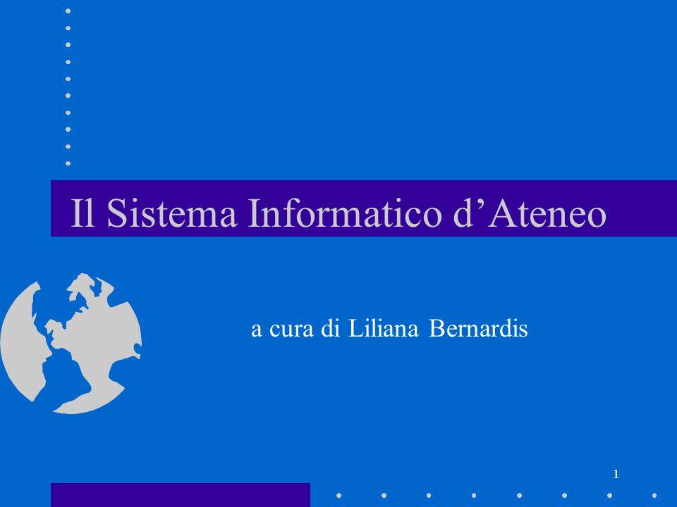 Il Sistema Informatico d'Ateneo