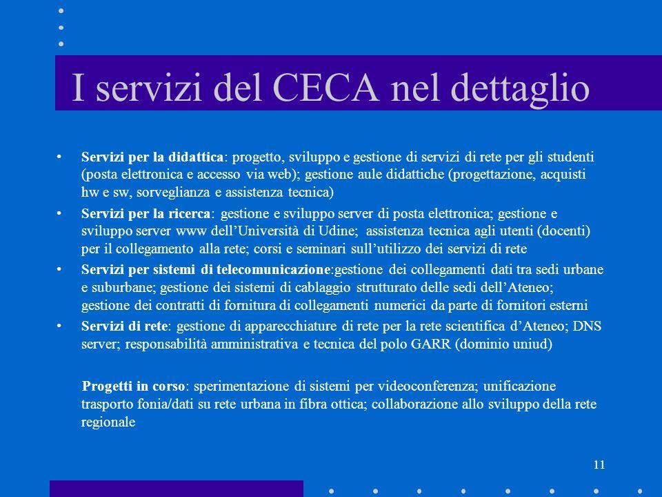 I servizi del CECA nel dettaglio