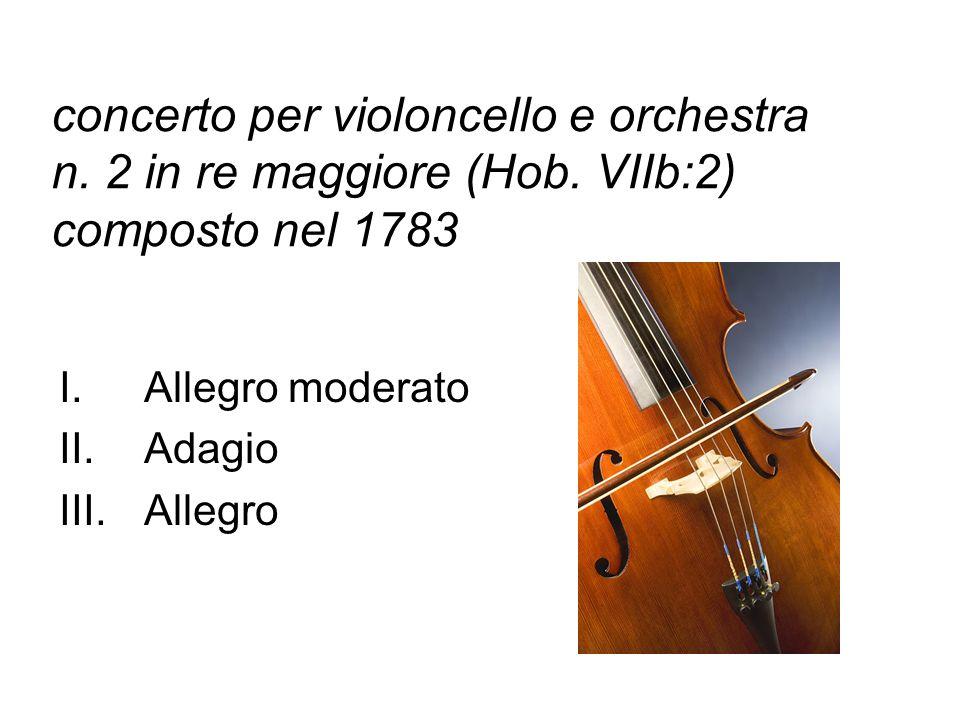 concerto per violoncello e orchestra n. 2 in re maggiore (Hob
