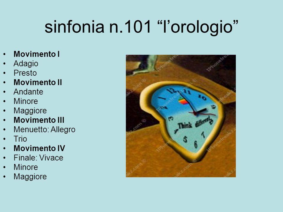 sinfonia n.101 l'orologio