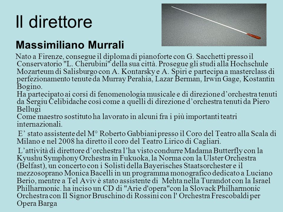 Il direttore Massimiliano Murrali.