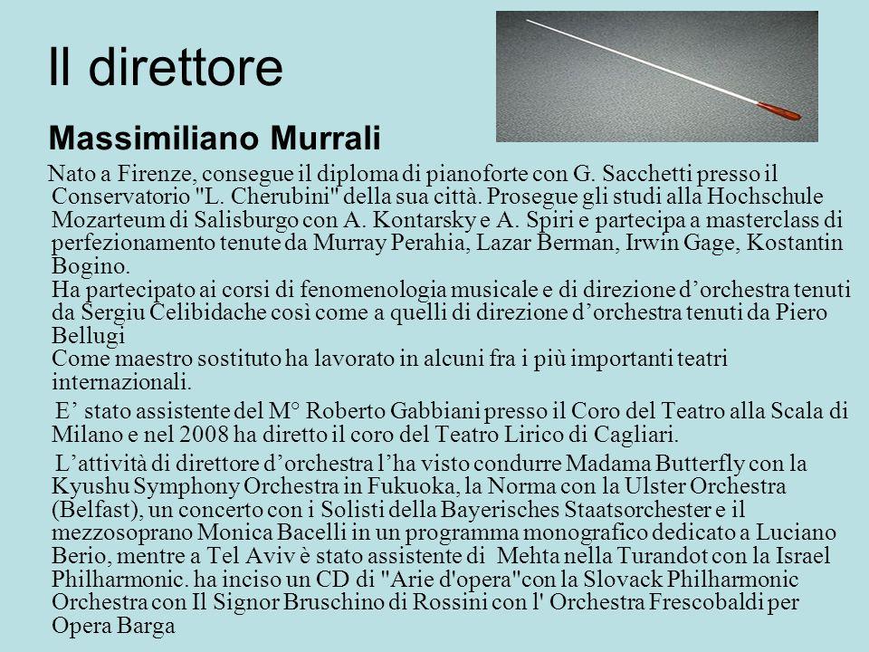 Il direttoreMassimiliano Murrali.