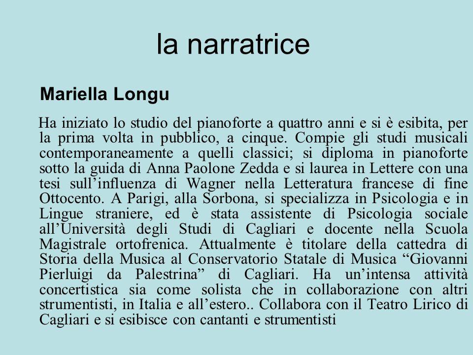 la narratrice Mariella Longu