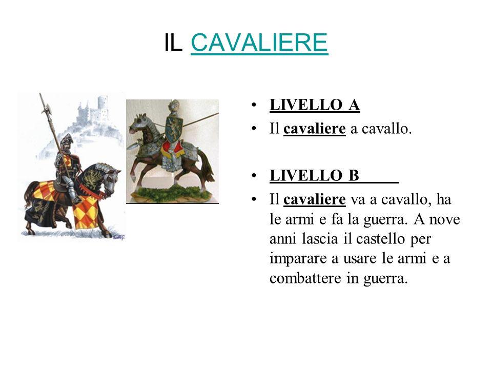 IL CAVALIERE LIVELLO A Il cavaliere a cavallo. LIVELLO B