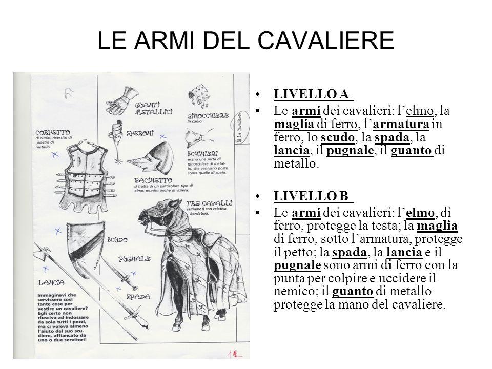 LE ARMI DEL CAVALIERE LIVELLO A
