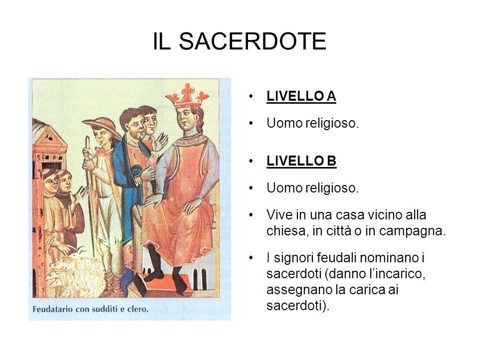 IL SACERDOTE LIVELLO A Uomo religioso. LIVELLO B