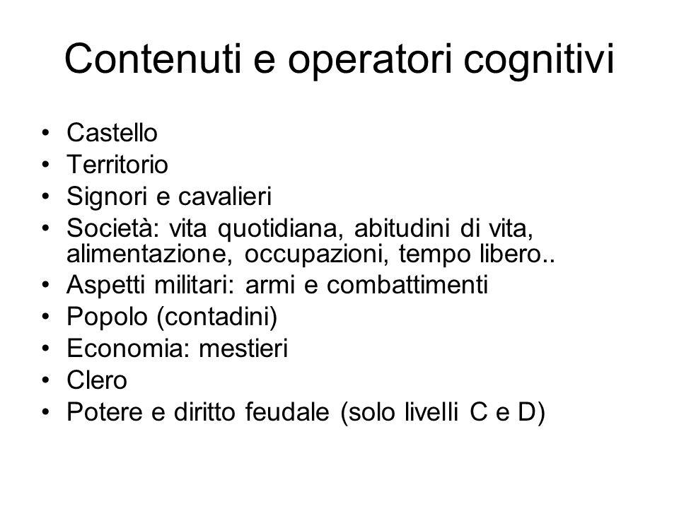 Contenuti e operatori cognitivi