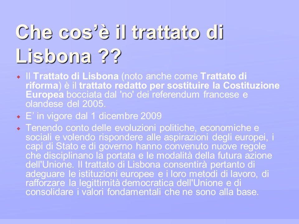 Che cos'è il trattato di Lisbona