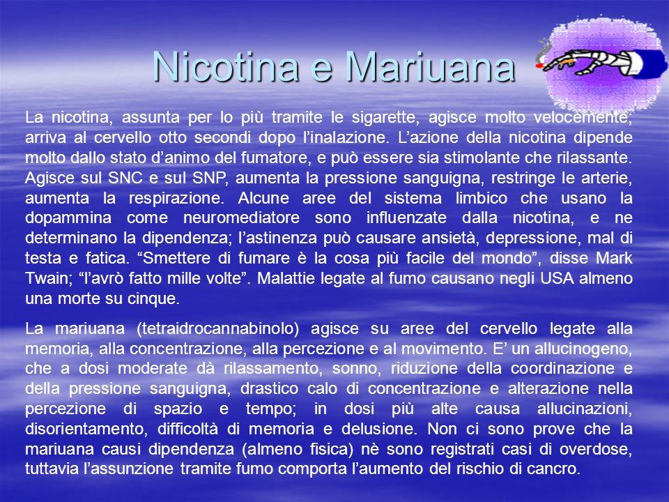 Nicotina e Mariuana