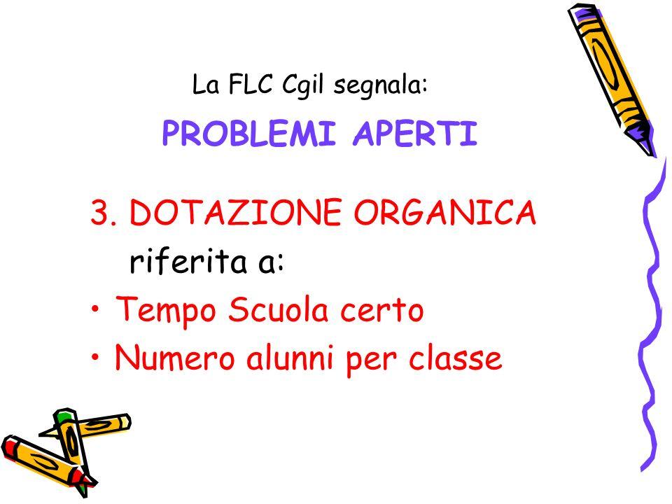 La FLC Cgil segnala: PROBLEMI APERTI