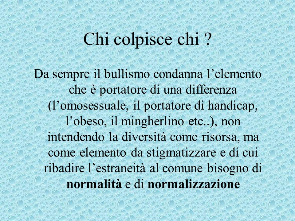 Chi colpisce chi