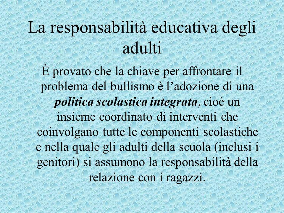 La responsabilità educativa degli adulti