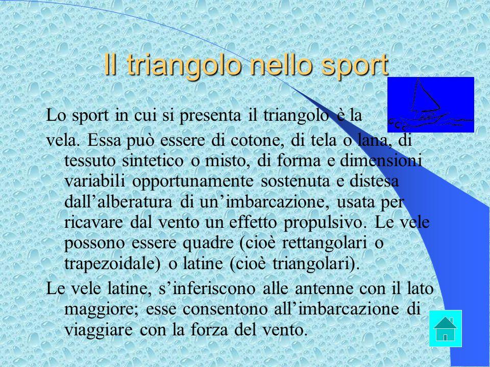 Il triangolo nello sport