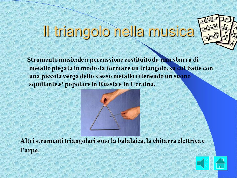 Il triangolo nella musica