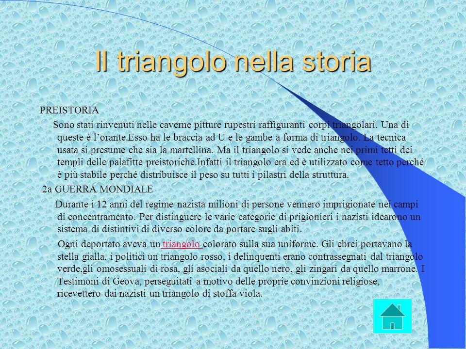 Il triangolo nella storia