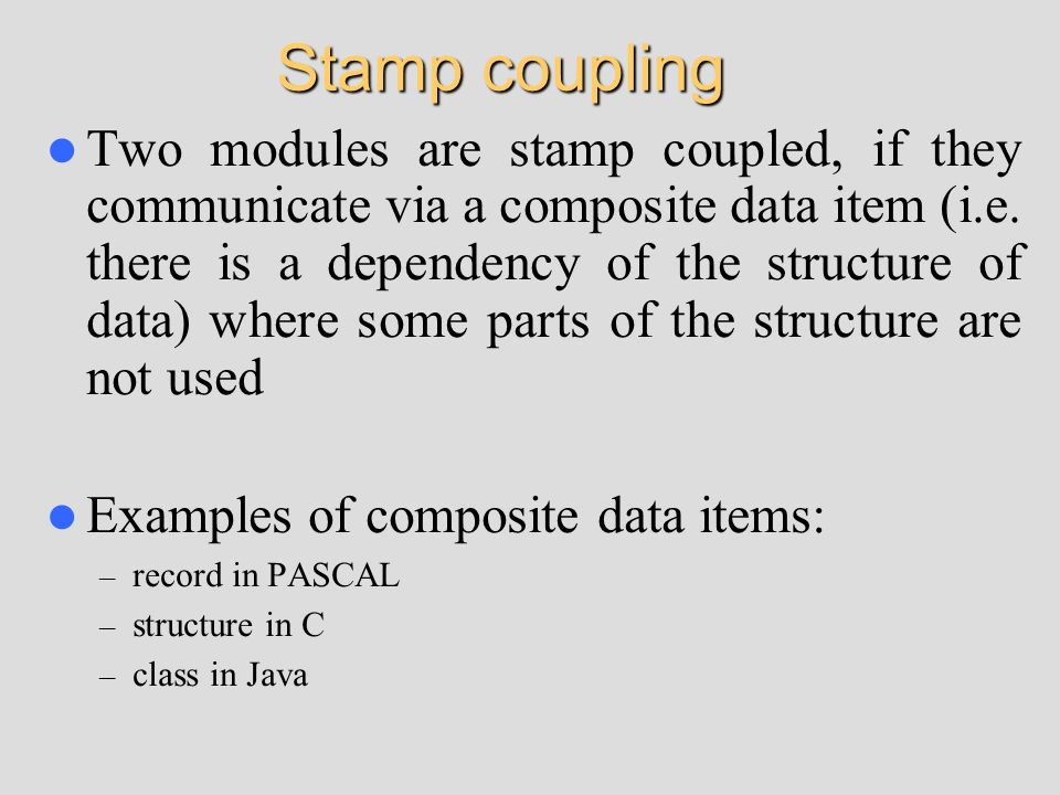 Stamp coupling
