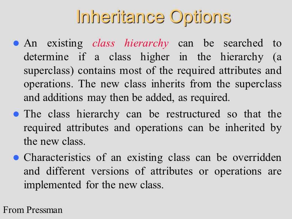 Inheritance Options