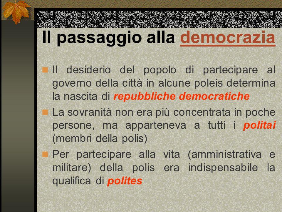 Il passaggio alla democrazia