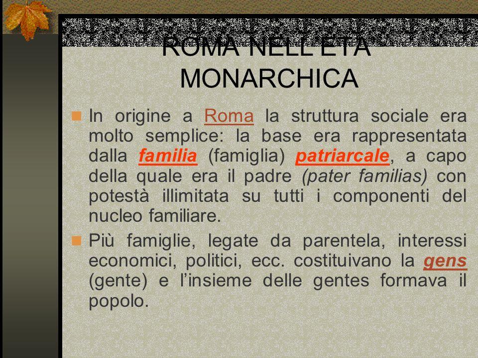 ROMA NELL'ETA' MONARCHICA