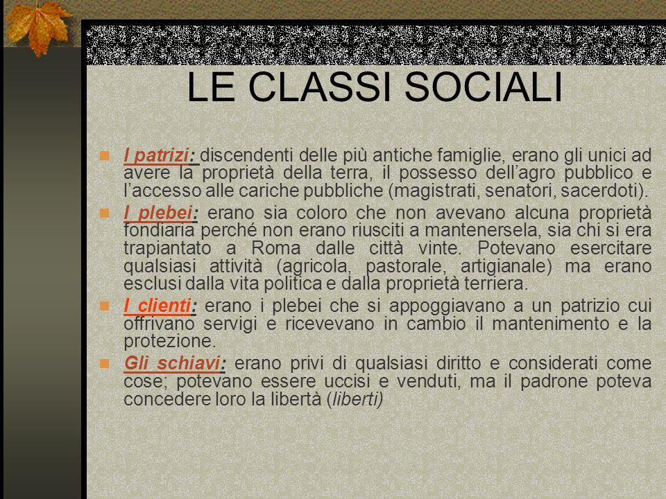 LE CLASSI SOCIALI