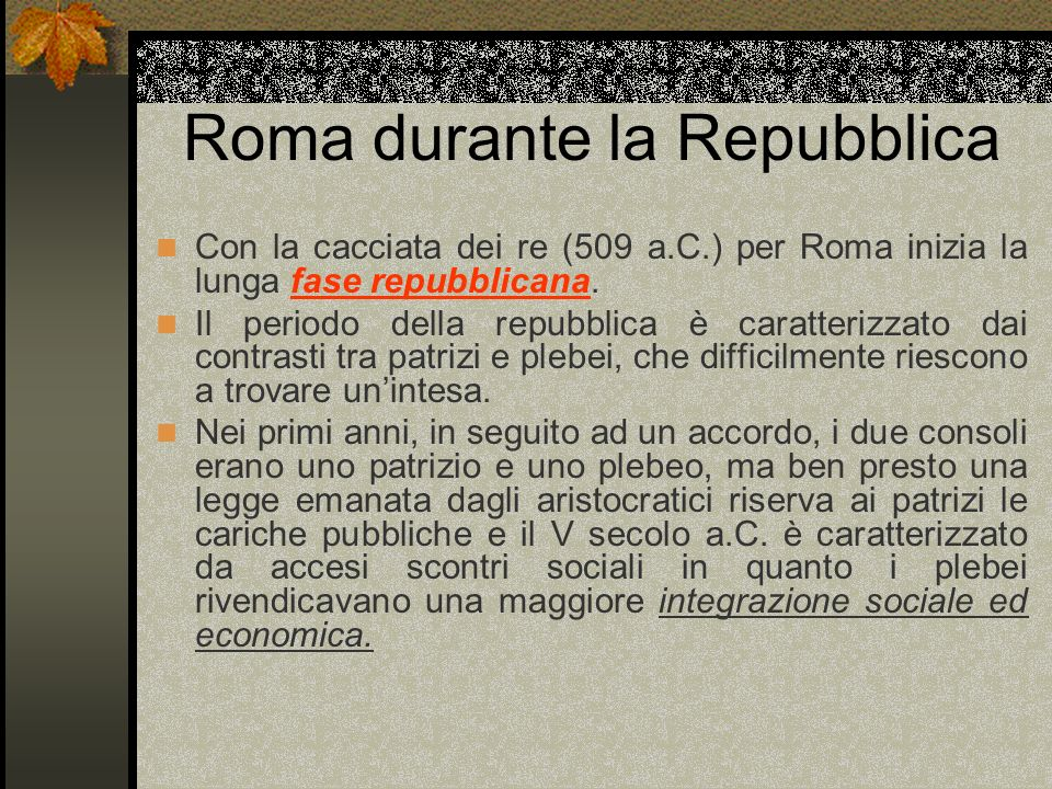 Roma durante la Repubblica