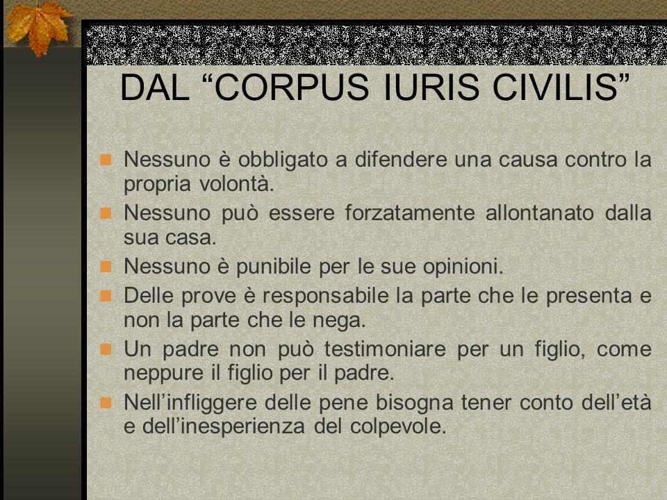 DAL CORPUS IURIS CIVILIS