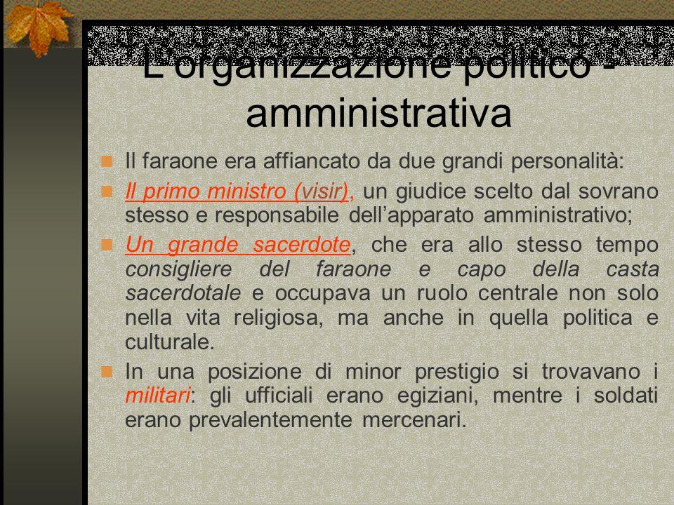 L'organizzazione politico - amministrativa