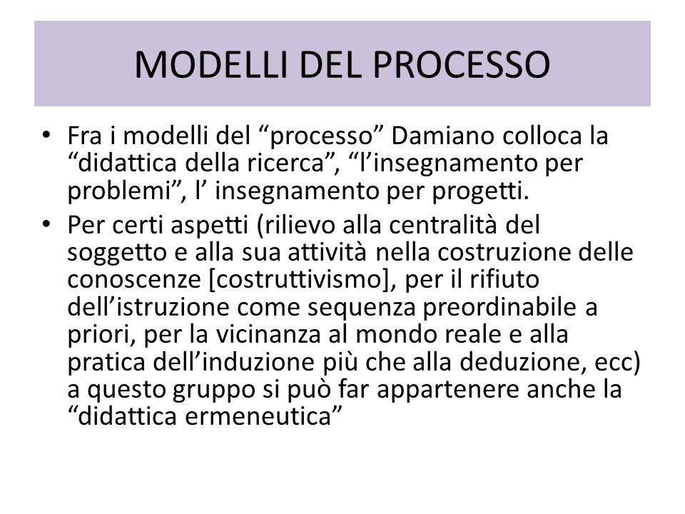 MODELLI DEL PROCESSO
