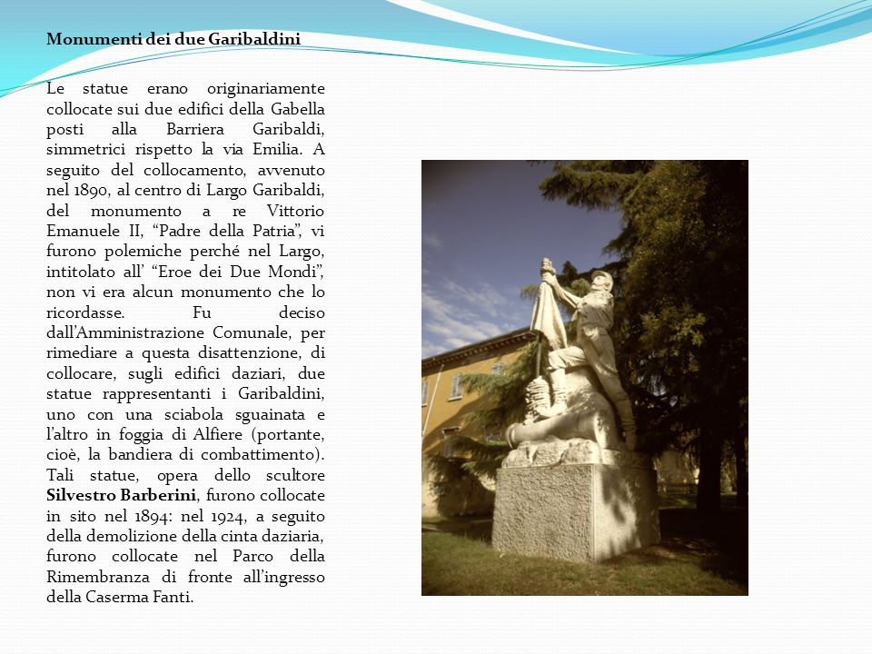 Monumenti dei due Garibaldini