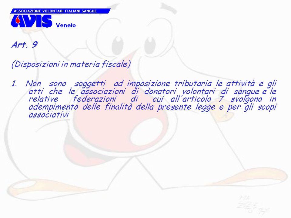 Art. 9 (Disposizioni in materia fiscale)