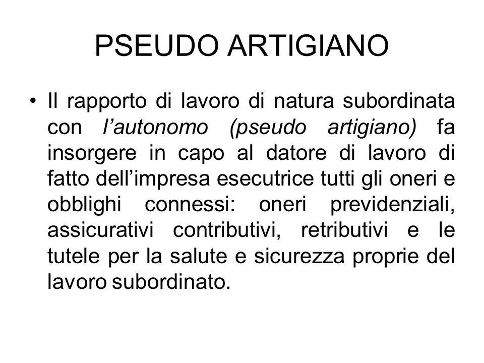 PSEUDO ARTIGIANO
