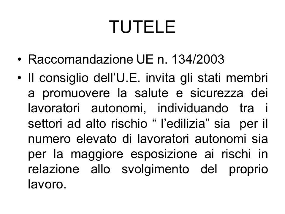 TUTELE Raccomandazione UE n. 134/2003