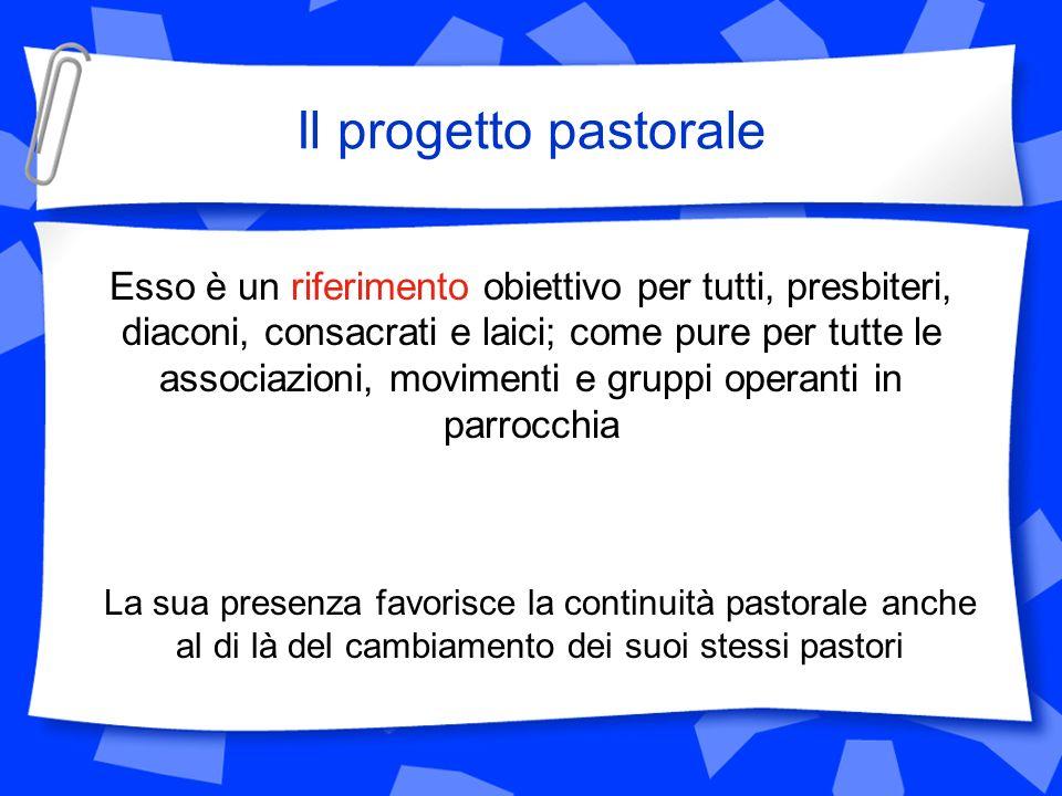 Il progetto pastorale