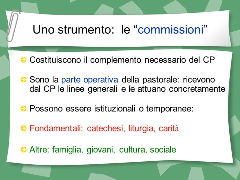 Uno strumento: le commissioni