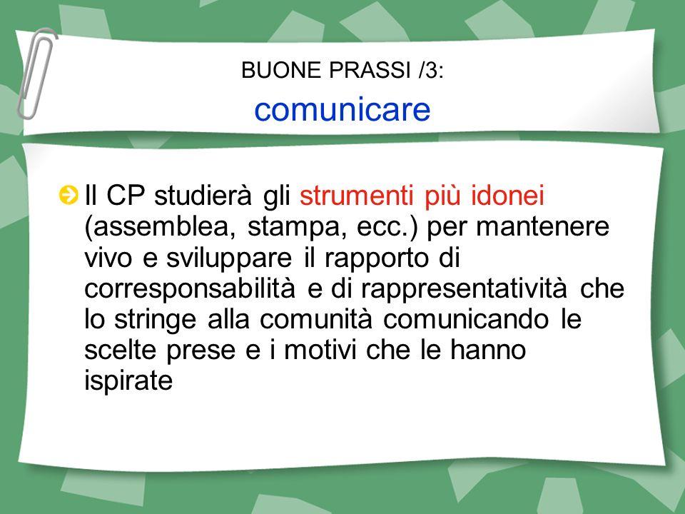 BUONE PRASSI /3: comunicare