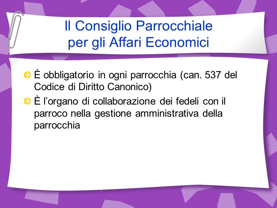 Il Consiglio Parrocchiale per gli Affari Economici