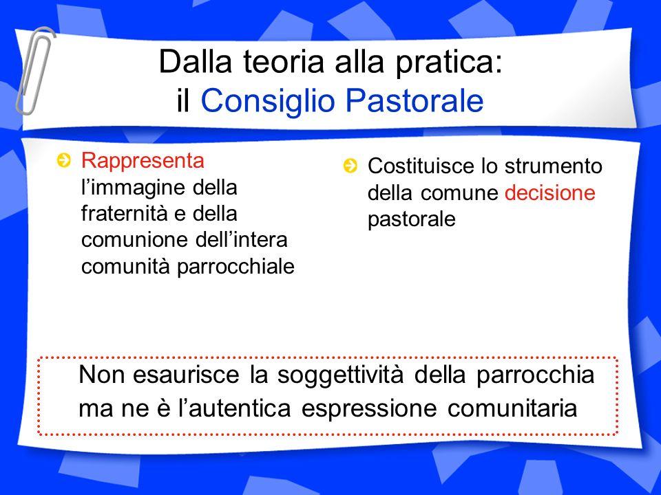 Dalla teoria alla pratica: il Consiglio Pastorale