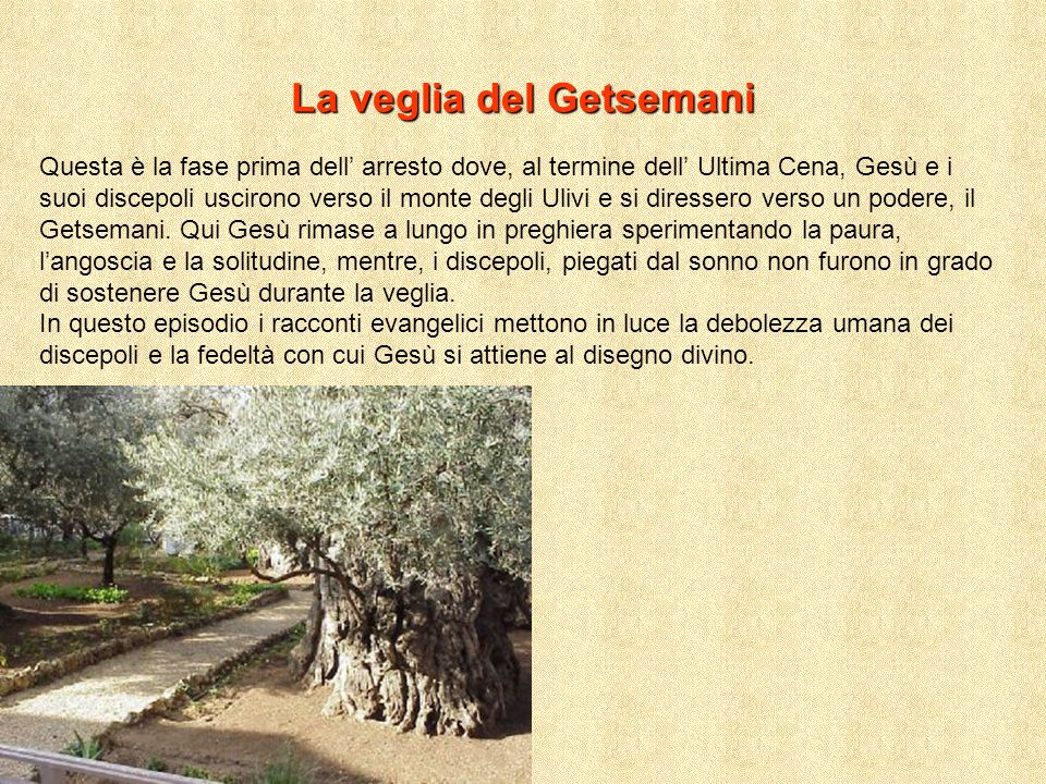 La veglia del Getsemani