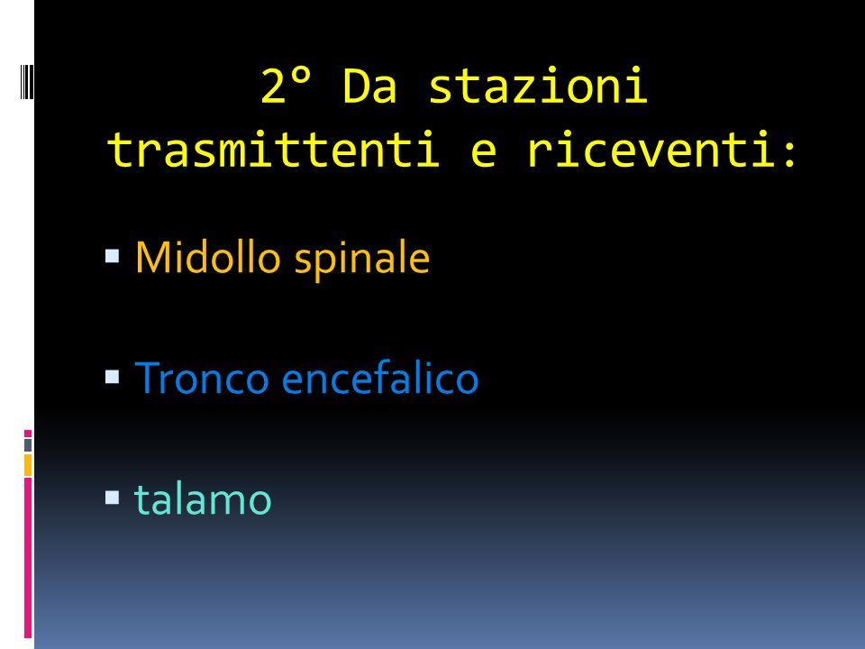 2° Da stazioni trasmittenti e riceventi: