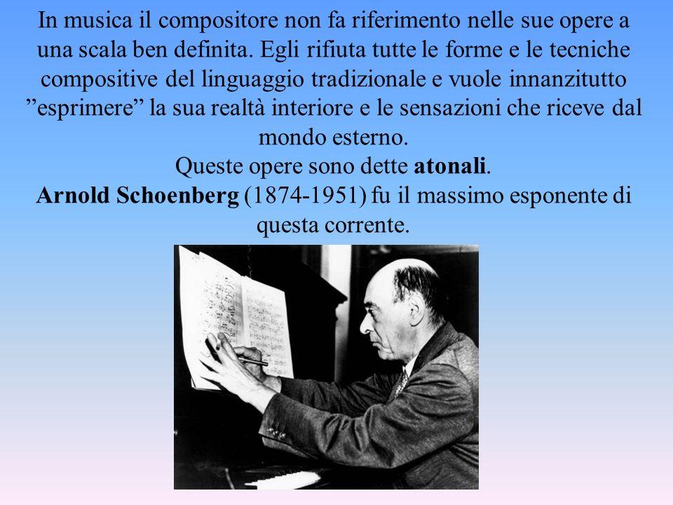 In musica il compositore non fa riferimento nelle sue opere a una scala ben definita.