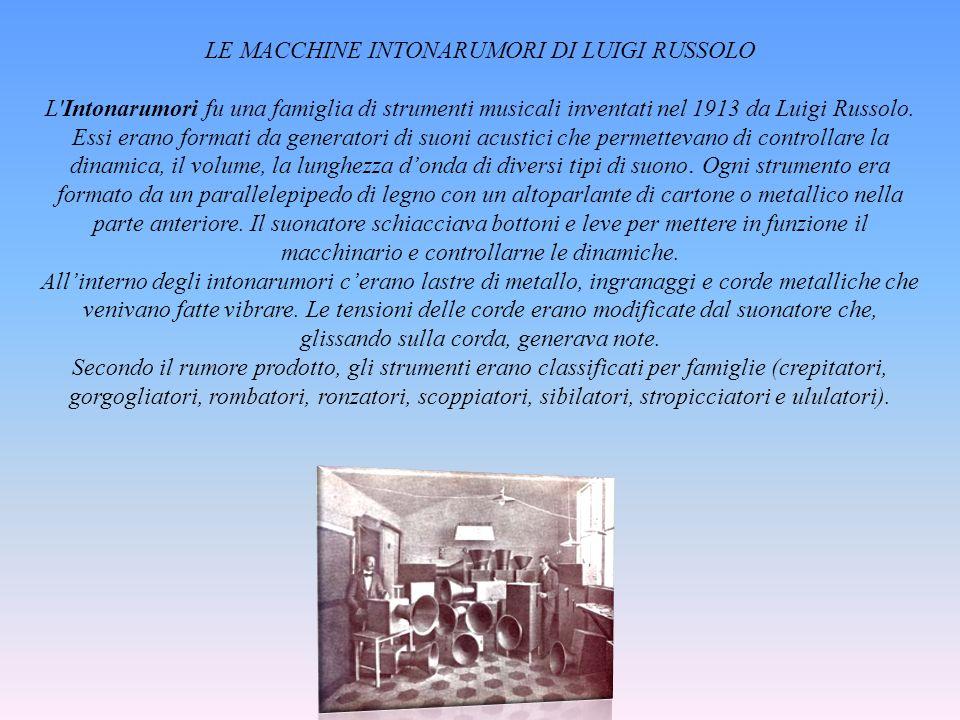 LE MACCHINE INTONARUMORI DI LUIGI RUSSOLO