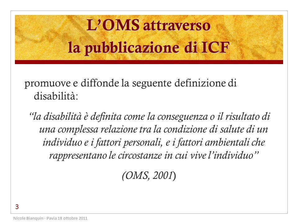 L'OMS attraverso la pubblicazione di ICF