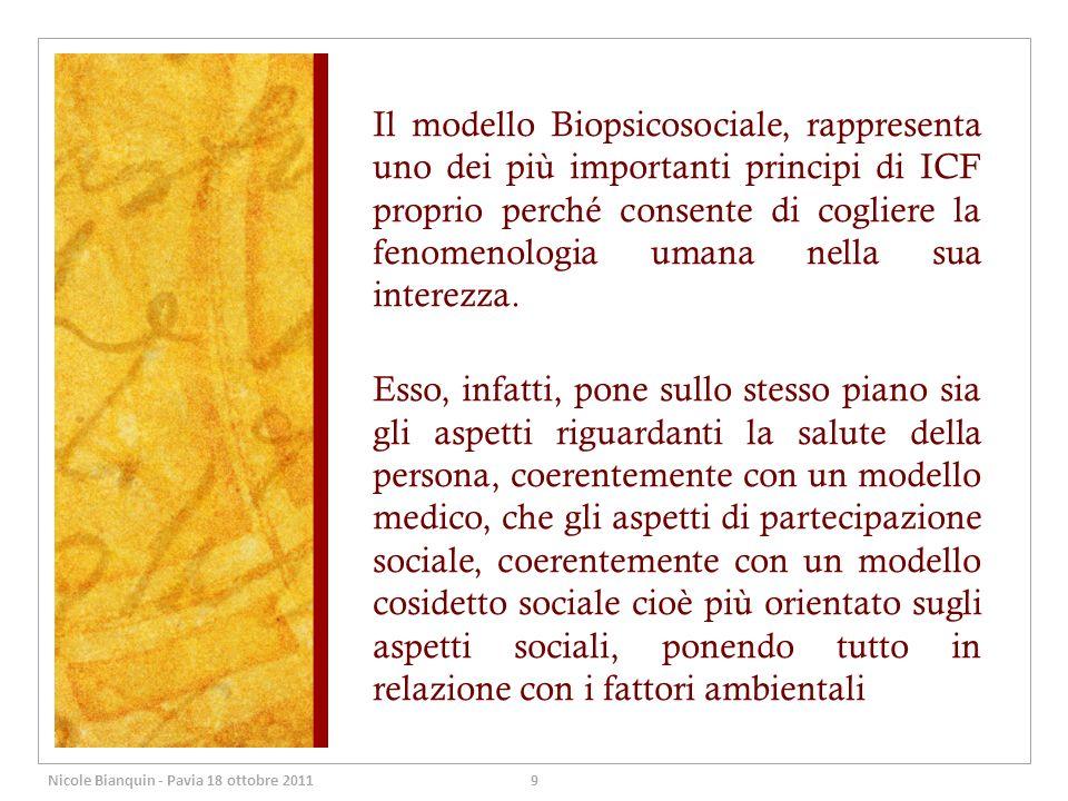 Il modello Biopsicosociale, rappresenta uno dei più importanti principi di ICF proprio perché consente di cogliere la fenomenologia umana nella sua interezza.