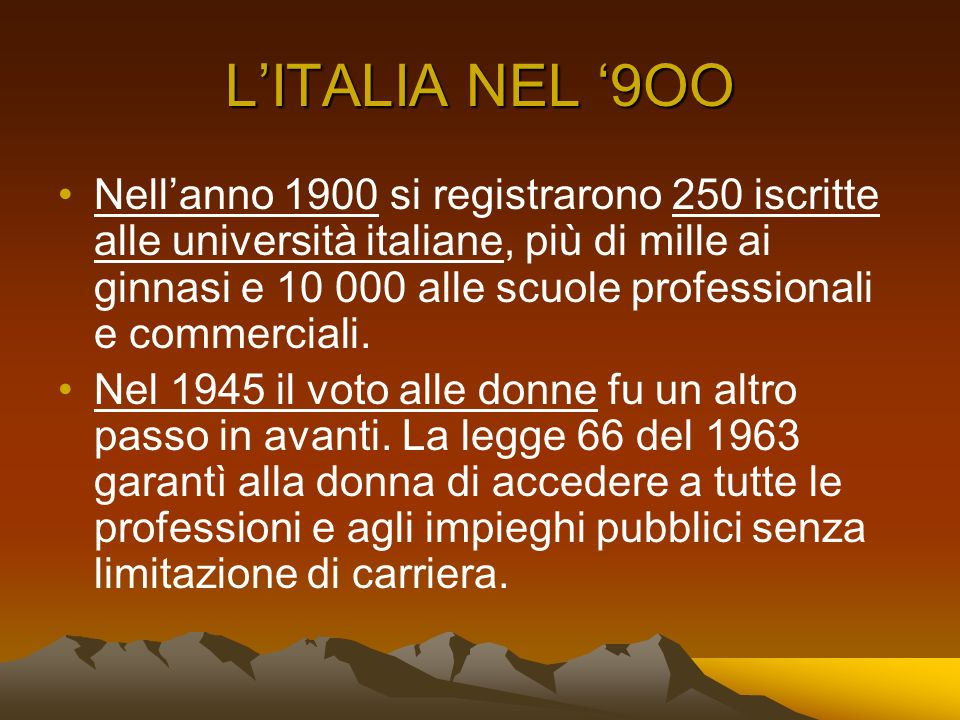 L'ITALIA NEL '9OO